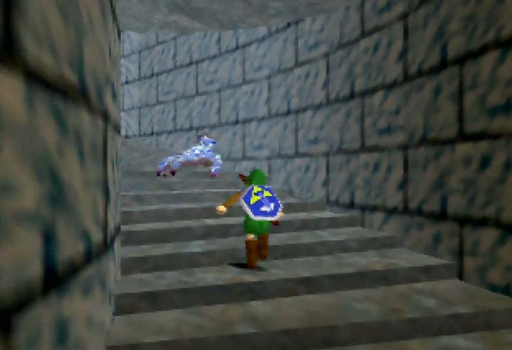 A blue floormaster in Zelda 64 - an early beta version.