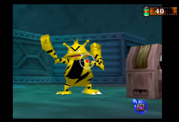 Electabuzz, as it appears in Pokémon Snap.