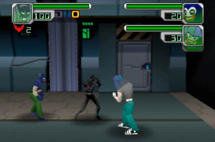 Fighting off the Jokerz in Batman Beyond: Return of the Joker (Nintendo 64)