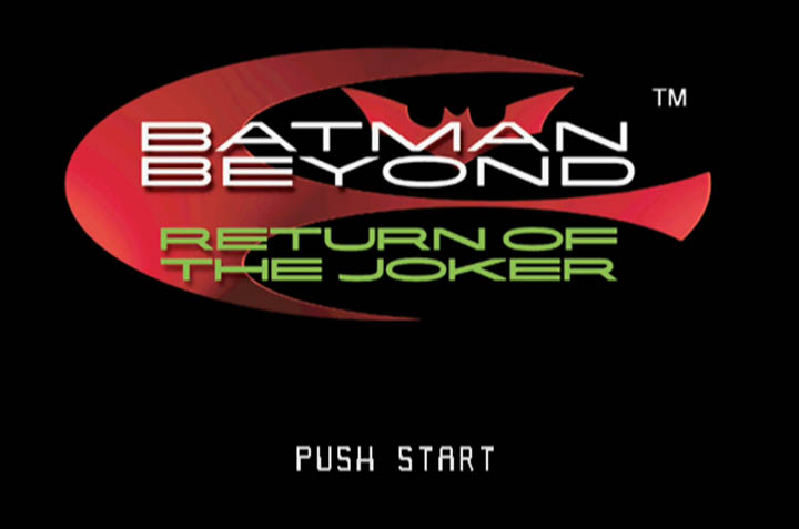 Batman Beyond: Return of the Joker N64 title screen