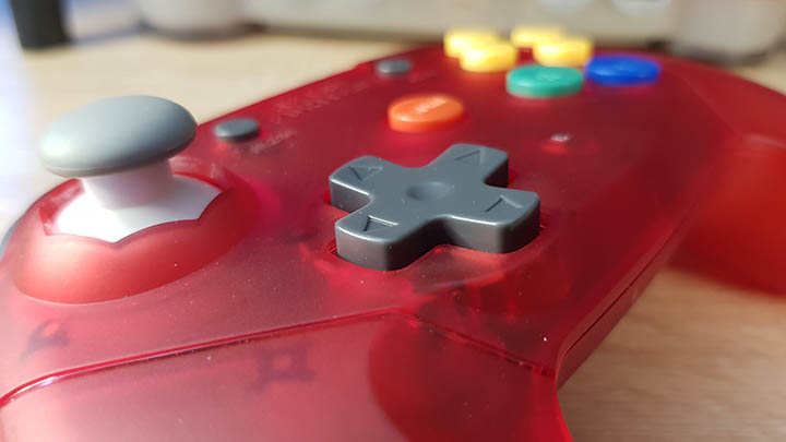 Close-up of the D-pad