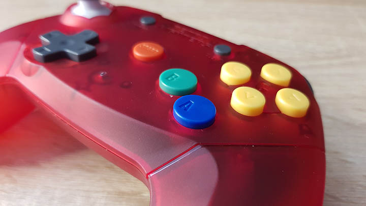 Face buttons, including Start, B, A and C buttons.