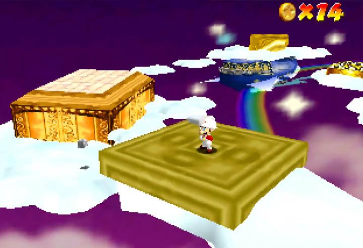 Cloud Mario suit in Super Mario 64