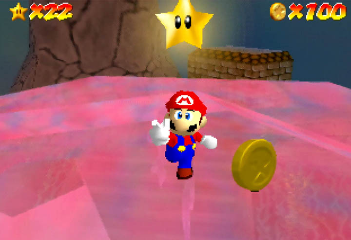 Stars and coins, as they appear in Return to Yoshi's Island 64.