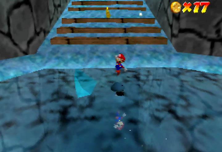 Impressive, full reflections in Super Mario 64